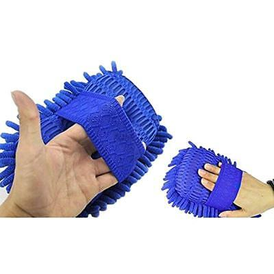 Microfiber Chenille + Soft Sponge Gloves For Car/Window Washing Cleaning Brushes