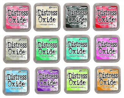 Tim Holtz Distress Oxide Ink Pads - 12 Colours - NEW! plus FREE Tracked Post