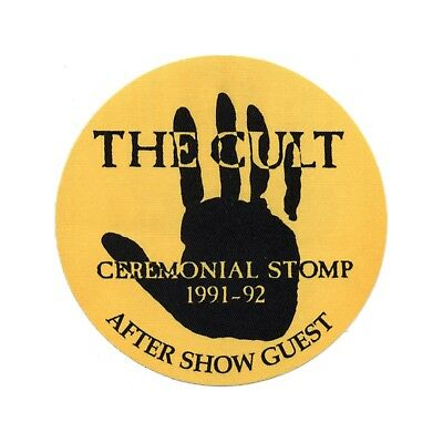 The Cult authentic Aftershow 1991-1992 tour Backstage Pass