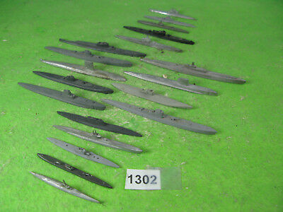 vintage waterline ships 1/1250 mixed lot metal submarines x20 1302