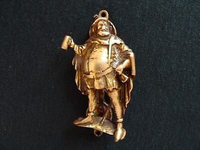 Vintage Henry Viii 4 Inch Long Solid Brass Front Door Knocker