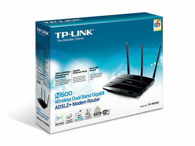 TP-LINK TD-W8980 N600 600Mbps Dual Band Wireless Gigabit ADSL2+ Modem Router