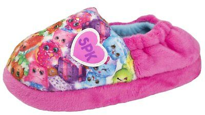 Girls Shopkins Slippers Shoppies Mules SPK Pink Shoes Kids Comfort Slippers Size