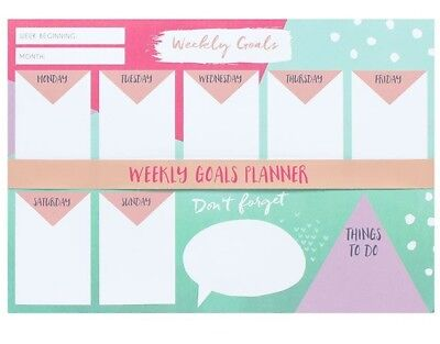 A4 Weekly Goals Tear Off Planner Things To Do Calendars Organisers