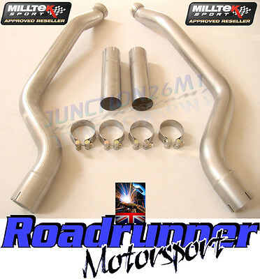 Milltek Exhaust Mercedes C63 AMG Stainless Secondary Cat Bypass Pipes SSXMZ103