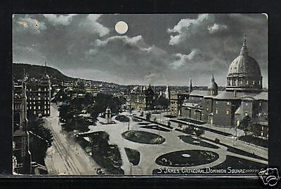 St. James Cathedral Dominion Square Quebec Moon Pre 1908 Postcard McCoy Printing