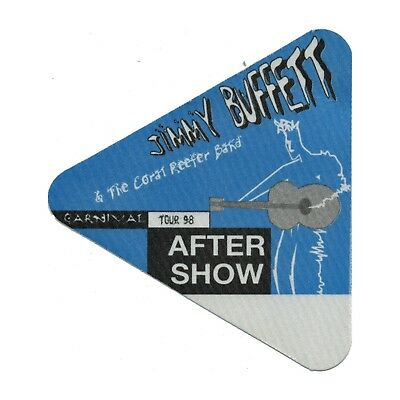 Jimmy Buffett authentic Aftershow 1998 tour Backstage Pass