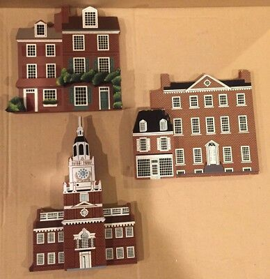 Shelias Collectible's LOT OF 5 (90-91) Signed, Independence Hall, City Tavern