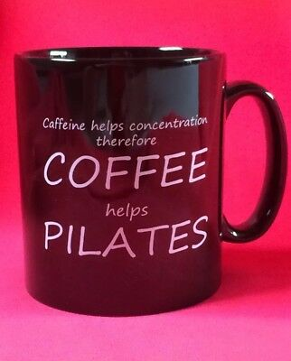 Pilates funny mug. Great gift for a Pilates enthusiast. Coffee helps Pilates 👍