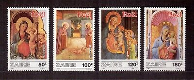 Zaire 1987 Set Mint Vf Nh # 1237/41, Christmas Paintings !!