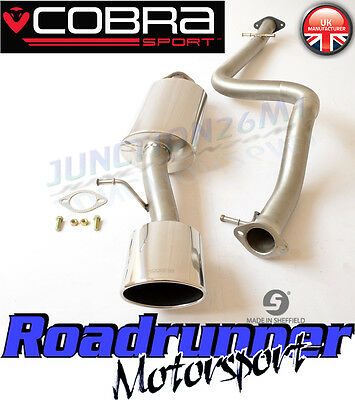 "Cobra Sport Leon Cupra R Exhaust System MK1 (1M) 2.5"" Stainless Cat Back Non Res"