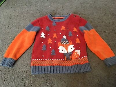 Lovely Boys Fox Print Jumper 18-24 Months