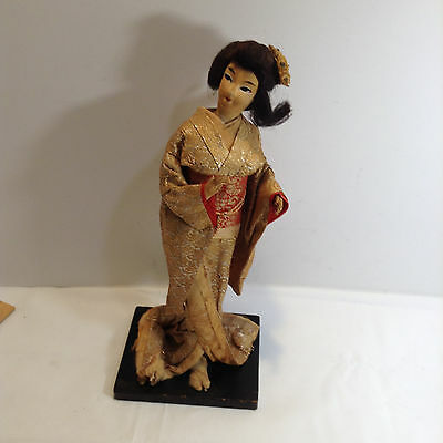 Vintage Chinese Oriental Asian Doll With Stand