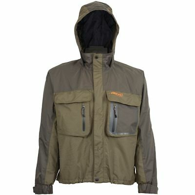 Airflo Defender Wading Jacket Green/Brown Fishing Clothing (Size M/L/XL)