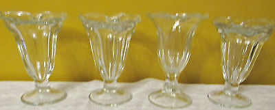4 VINTAGE SODA ICE CREAM SODA DRUG Store FOUNTAIN GLASSES BY LIBBEY GLASS CO
