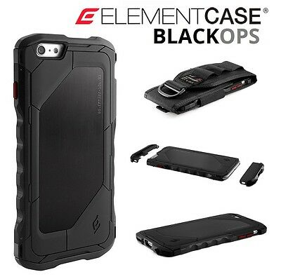 Genuine iPhone 6 Plus BLACK OPS Drop Proof Element Case MILITARY-SPEC RRP £147