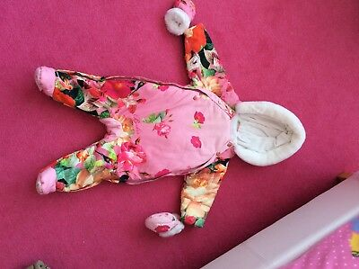 Girls Ted Baker Snowsuit 9-12 Months
