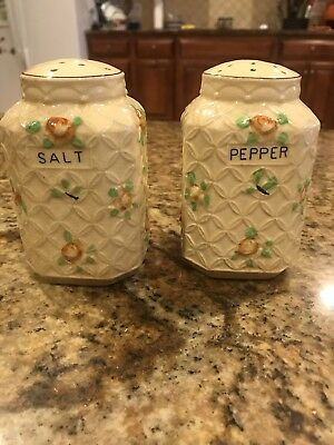 2 Sets of 20's 30's JAPAN SALT PEPPER SHAKERS RUSTIC COUNTRY DECOR-