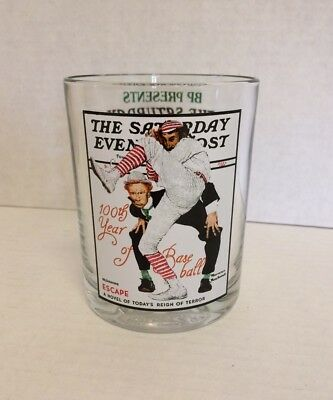 Norman Rockwell The Saturday Evening Post Glassware 100Th Year Of Baseball