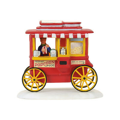 Dept 56 Christmas Story Village Popcorn Wagon Vendor 4057257 NEW LED