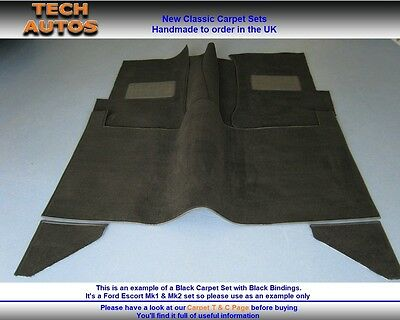 Ford Escort Mk1 Carpet Set Handmade To Order Auto Velour