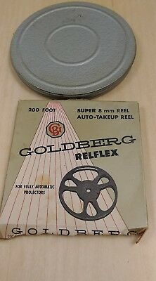 Vintage Goldberg Super 8mm Film Reel Relflex 400ft W/ Can in Box