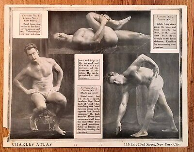 Charles Atlas Vintage Exercise Lessons Gay