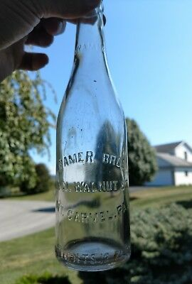 VINTAGE KRAMER BROTHERS MT. CARMEL PA. crown top beer soda pop bottle. Shamokin