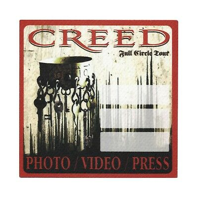 Creed authentic Photo 2010 tour Backstage Pass