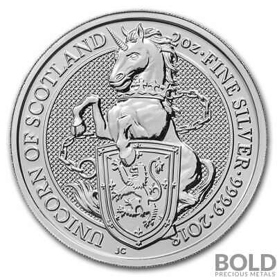 2018 Silver Great Britain Queen's Beasts (The Unicorn) - 2 oz