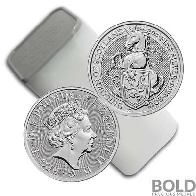 2018 Silver Great Britain Queen's Beasts (The Unicorn) – 2 oz (10 Coins)