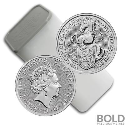 2018 Silver Great Britain Queen's Beasts (The Unicorn) - 2 oz (10 Coins)