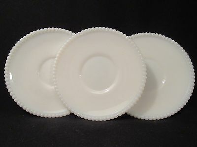 Westmoreland Beaded Edge Plain 6 Saucer Plates Excellent