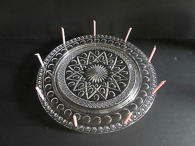 Imperial Cape Cod Birthday Cake Plate 72 Candle Holes Excellent