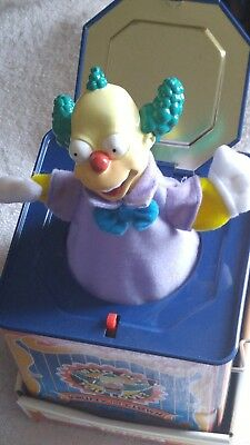 Krusty the Clown Simpsons Jack In the Box Matt Groening Collectible Cartoon Toy