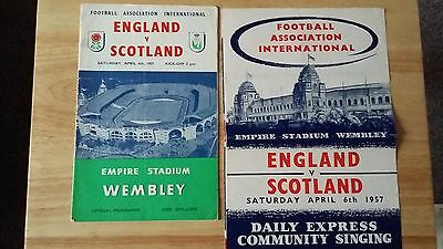 1957 ENGLAND  v  SCOTLAND  with Community Song Sheet 6 April 1957