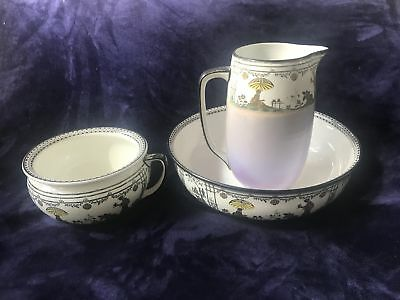 Wedgwood Chamber Pot Set Vintage 3-Piece