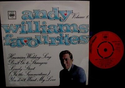 ANDY WILLIAMS: Favourites  Vol. 1 (CBS)  1965 EP