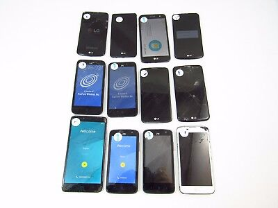 Lot of 12 Cracked Google Tracfone Phones Check ESN K