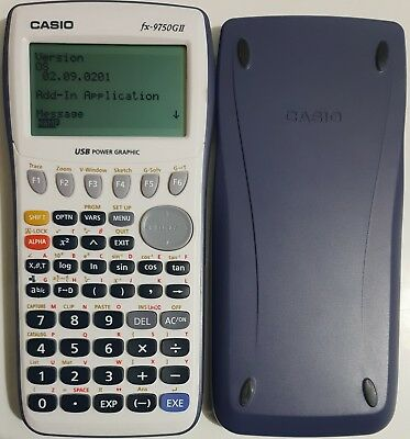 Casio fx-9750GII Graphic Calculator UPGRADED to LATEST fx-9860GII OS *FREE POST*