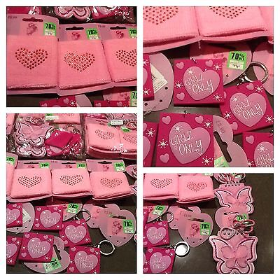 Brand New With Tags 12 x Girls Party Bags  items All Pink