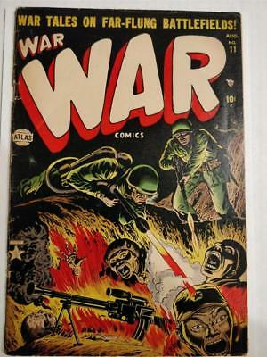 War Comics #11 August 1952  Classic Flame Thrower Cover.  Hot Book!