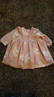 Mamas and papas baby girl 3-6 months lace dress rrp £39 worn once winter long...