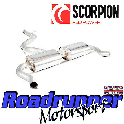 SRNS026 Scorpion Clio RS 200 EDC Exhaust Secondary Cat Back System Non Resonated