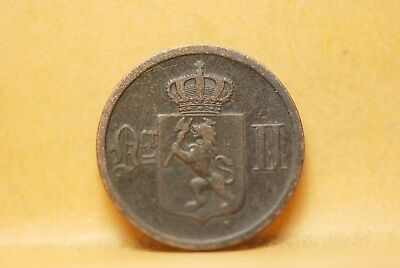 Norway, 1876 2 Ore, Very Good, No Reserve,                                   919