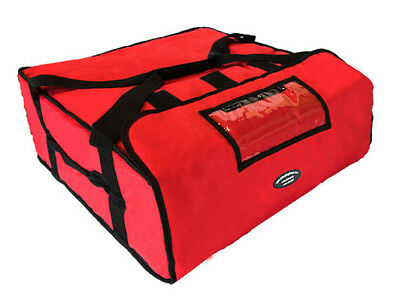 """Case of 5 Pizza Delivery Bags (Holds up to Four 16"""" or Three 18"""" Pizzas) Red"""