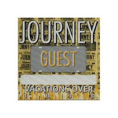 Journey authentic 1998 Vacation's Over Tour satin Backstage Pass guest yellow