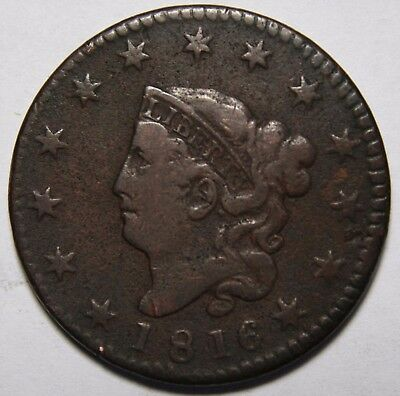 1816 Large Cent Liberty Head Coin Lot # EA 167