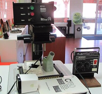 Omega Film Enlarger C760 Modular XL System, Timer, Easle Film Trays with Manual