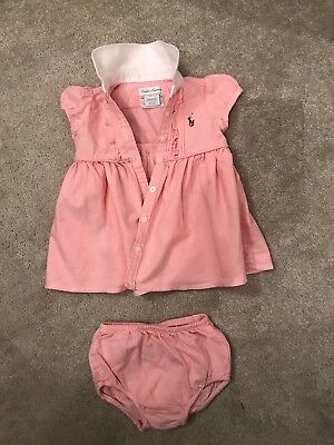 Ralph Lauren baby girls dress and pants. Pink. Age 3 months.